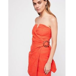 Free People • some nights mini strapless dress